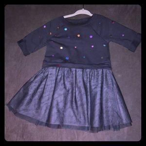 Grey toddler dress
